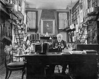 [Horace Howard Furness in his library]