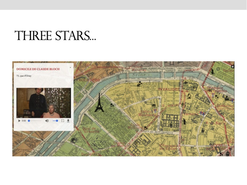 Etoilement - The Starring Effect<br /> Mapping Paris during the German Occupation