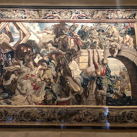 Tapestry showing the Triumph of Constantine over Maxentius at the Battle of the Milivian